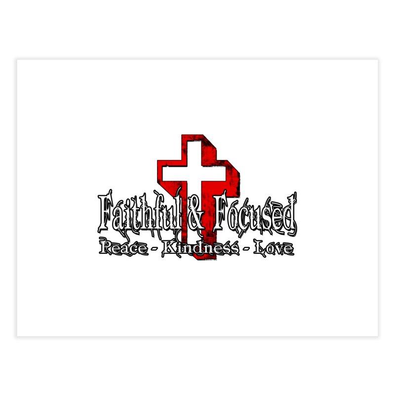 Red  Faithful Cross Home Fine Art Print by Faithful & Focused Store