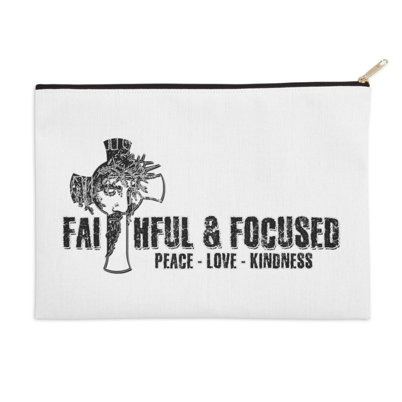 He Reigns Faithful&Focused Accessories Zip Pouch by Faithful & Focused Store