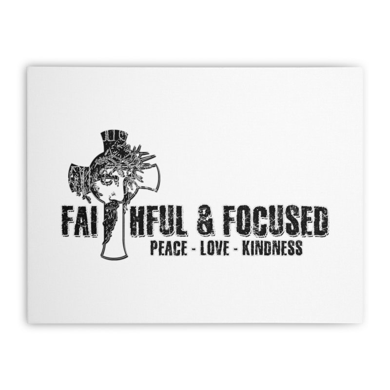 He Reigns Faithful&Focused Home Stretched Canvas by Faithful & Focused Store