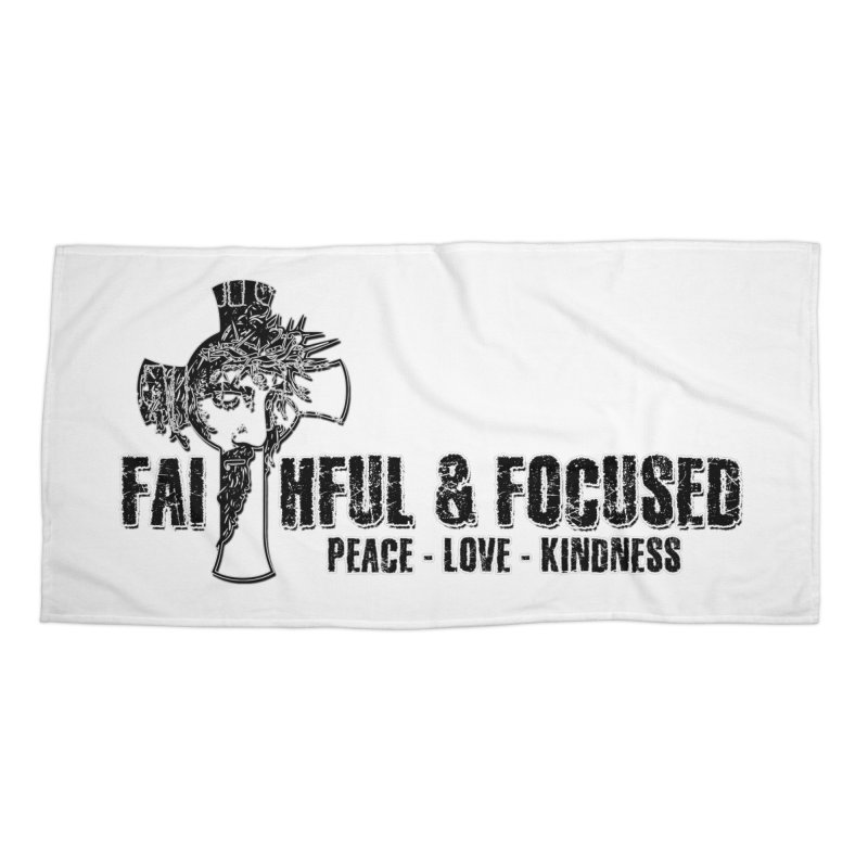 He Reigns Faithful&Focused Accessories Beach Towel by Faithful & Focused Store