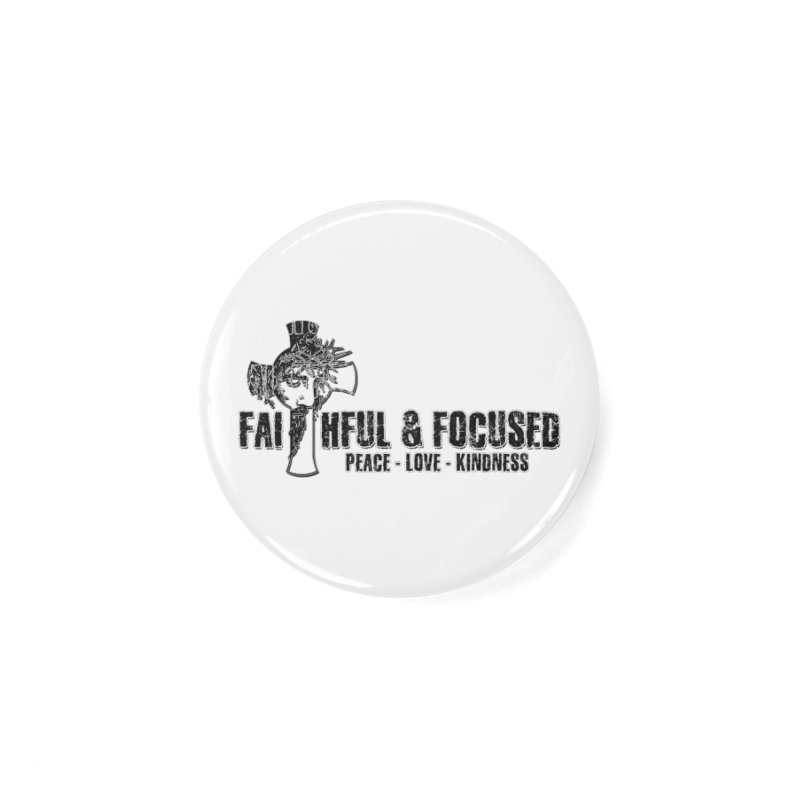 He Reigns Faithful&Focused Accessories Button by Faithful & Focused Store