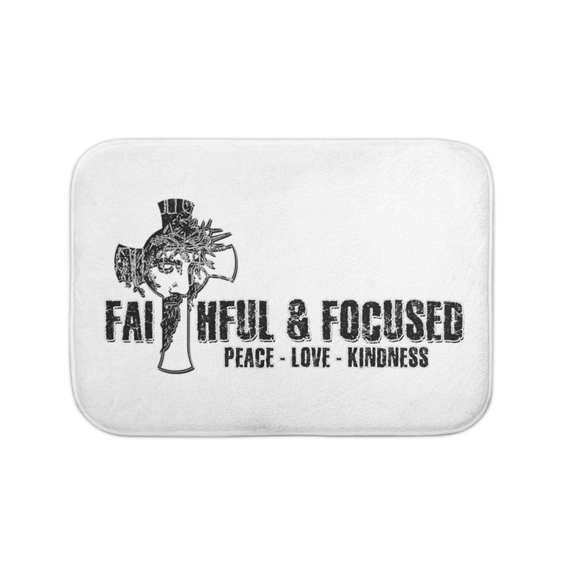 He Reigns Faithful&Focused Home Bath Mat by Faithful & Focused Store