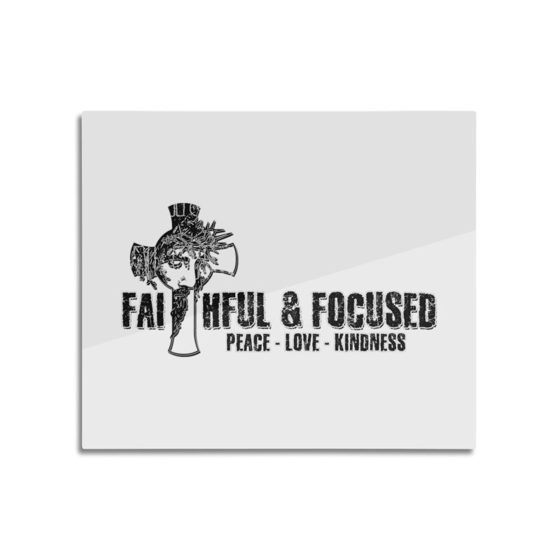 He Reigns Faithful&Focused Home Mounted Aluminum Print by Faithful & Focused Store