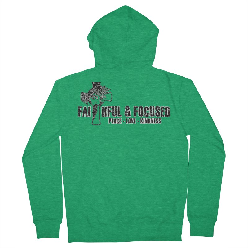 He Reigns Faithful&Focused Women's Zip-Up Hoody by Faithful & Focused Store