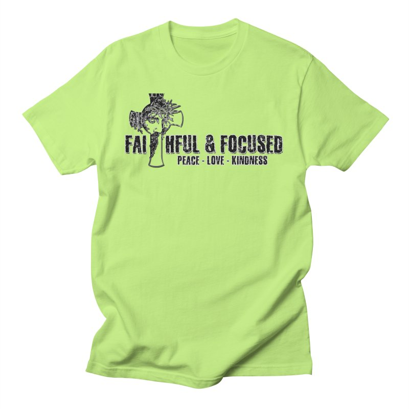He Reigns Faithful&Focused Men's T-Shirt by Faithful & Focused Store