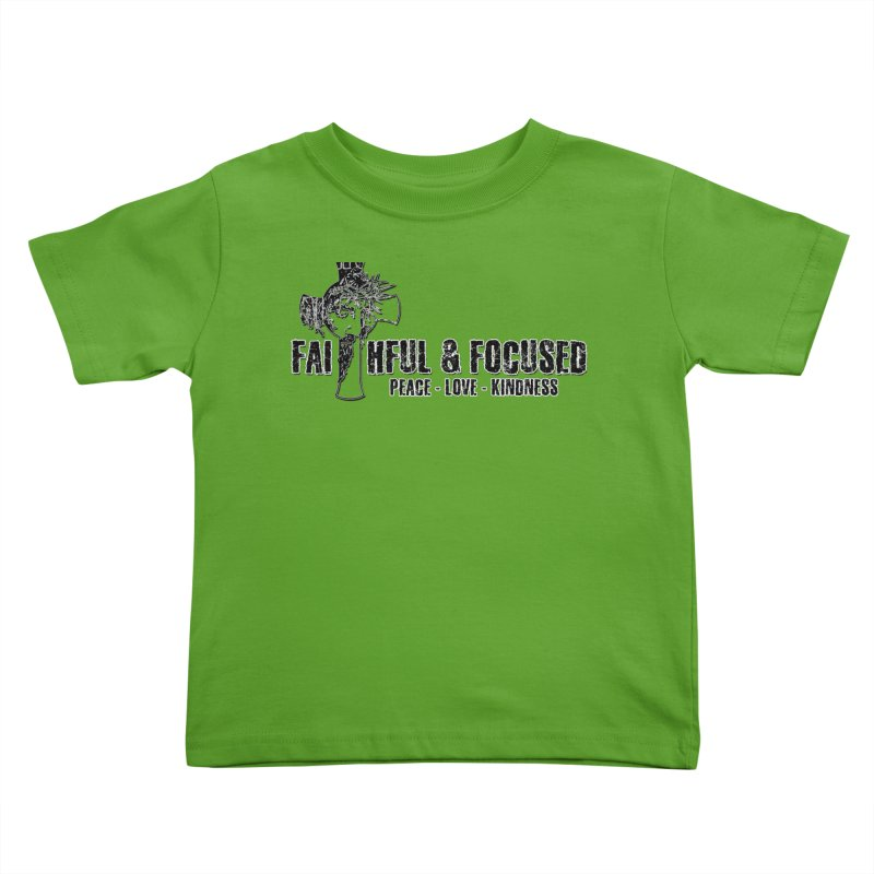 He Reigns Faithful&Focused Kids Toddler T-Shirt by Faithful & Focused Store