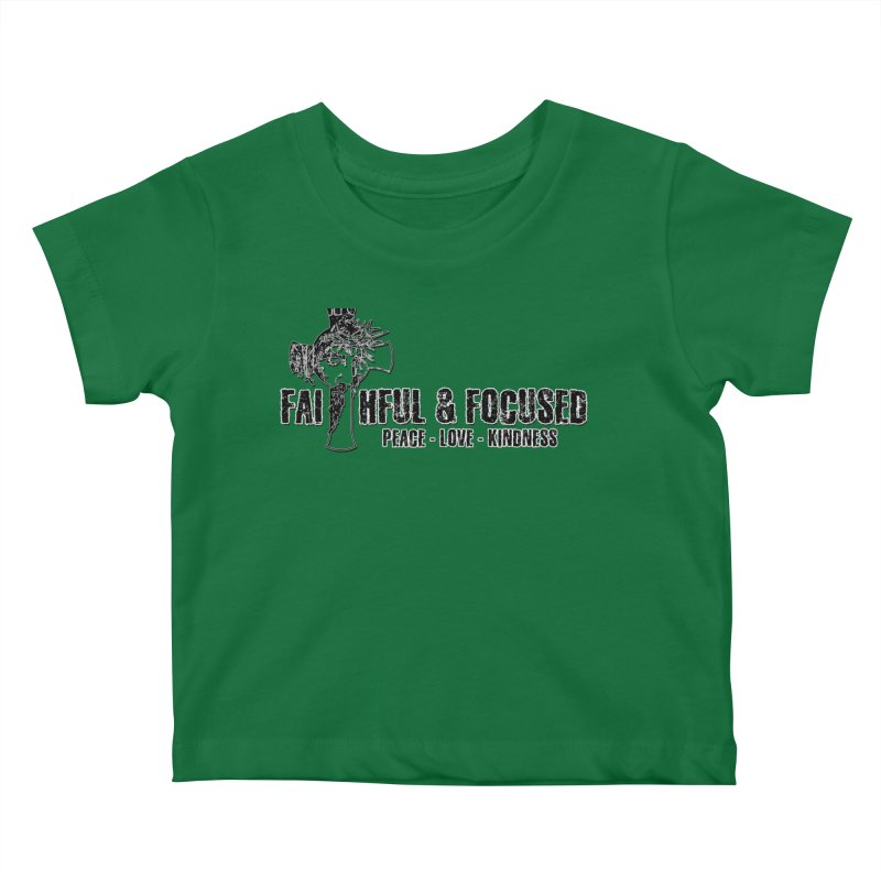 He Reigns Faithful&Focused Kids Baby T-Shirt by Faithful & Focused Store