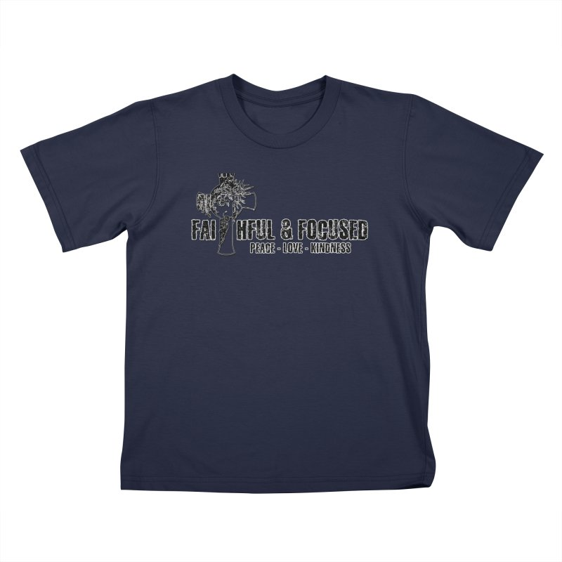 He Reigns Faithful&Focused Kids T-Shirt by Faithful & Focused Store
