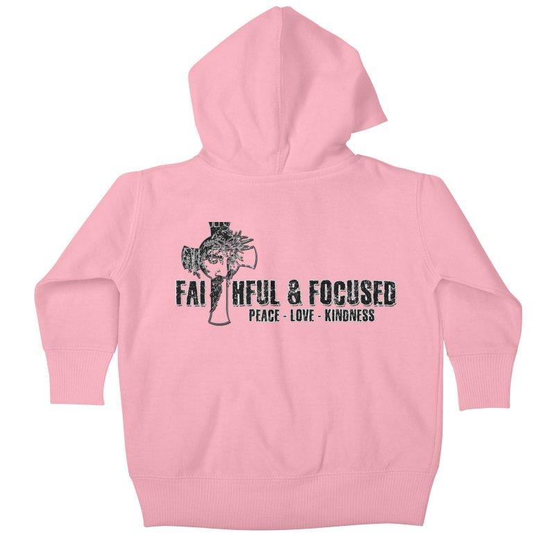 He Reigns Faithful&Focused Kids Baby Zip-Up Hoody by Faithful & Focused Store