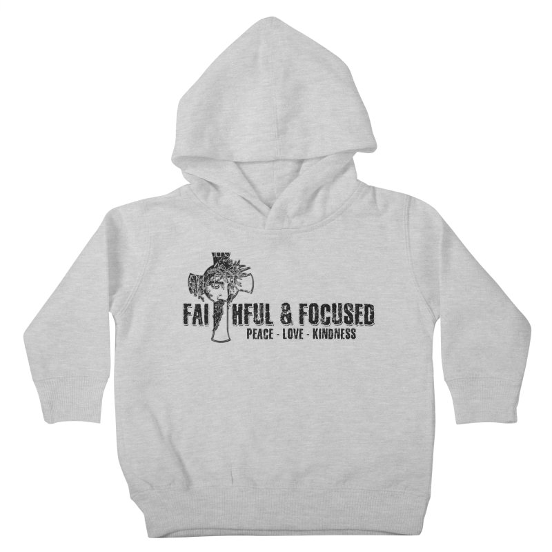 He Reigns Faithful&Focused Kids Toddler Pullover Hoody by Faithful & Focused Store
