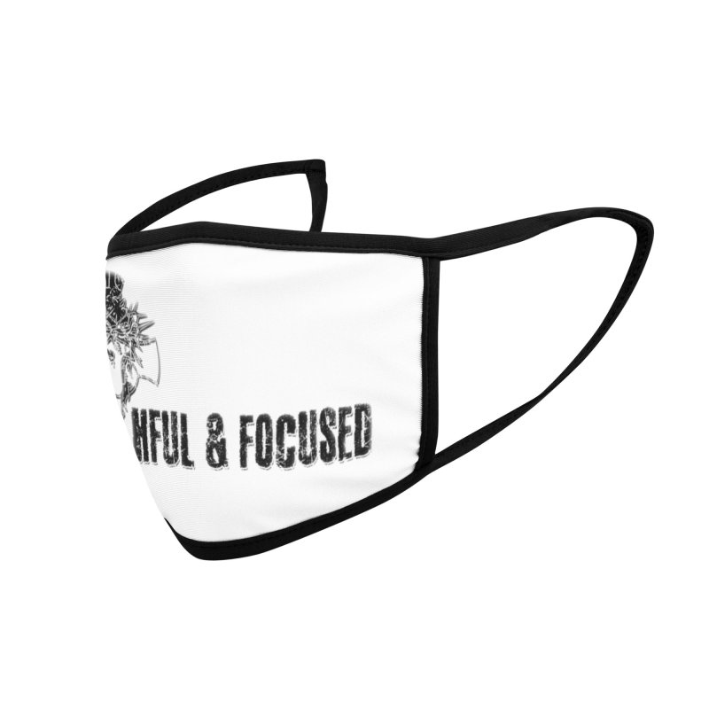 FAITHFUL AND FOCUSED CROSS W/ FACE Accessories Face Mask by Faithful & Focused Store