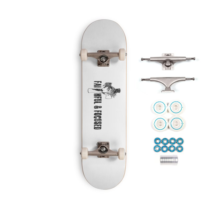 FAITHFUL AND FOCUSED CROSS W/ FACE Accessories Skateboard by Faithful & Focused Store
