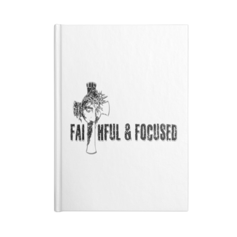 FAITHFUL AND FOCUSED CROSS W/ FACE Accessories Notebook by Faithful & Focused Store
