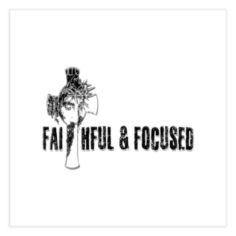 FAITHFUL AND FOCUSED CROSS W/ FACE Home Fine Art Print by Faithful & Focused Store