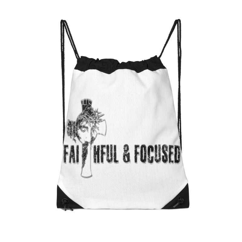 FAITHFUL AND FOCUSED CROSS W/ FACE Accessories Bag by Faithful & Focused Store