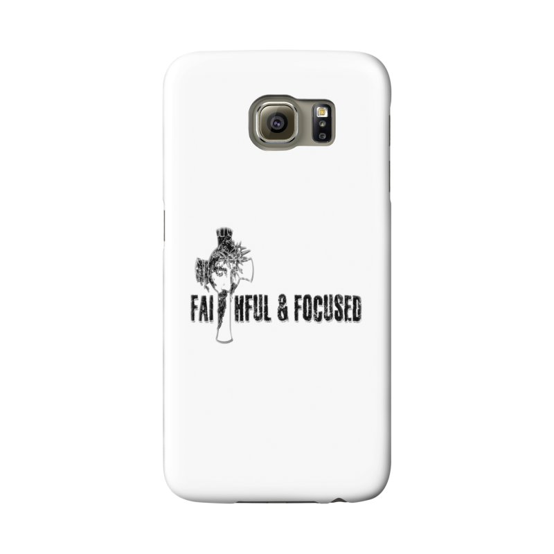 FAITHFUL AND FOCUSED CROSS W/ FACE Accessories Phone Case by Faithful & Focused Store