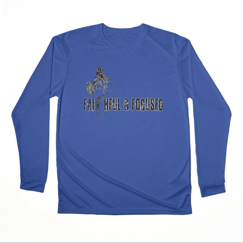 FAITHFUL AND FOCUSED CROSS W/ FACE Men's Longsleeve T-Shirt by Faithful & Focused Store