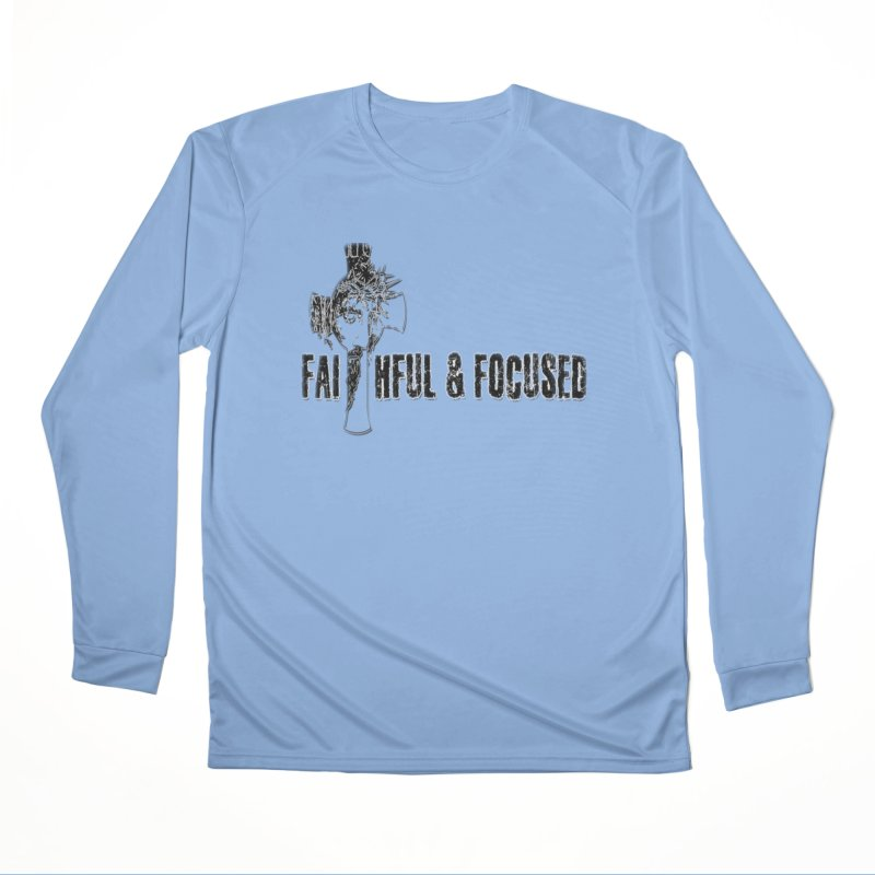 FAITHFUL AND FOCUSED CROSS W/ FACE Women's Longsleeve T-Shirt by Faithful & Focused Store