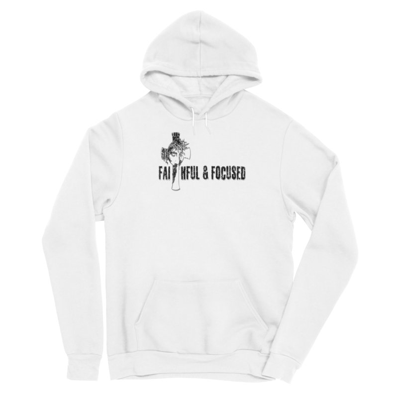 FAITHFUL AND FOCUSED CROSS W/ FACE Men's Pullover Hoody by Faithful & Focused Store