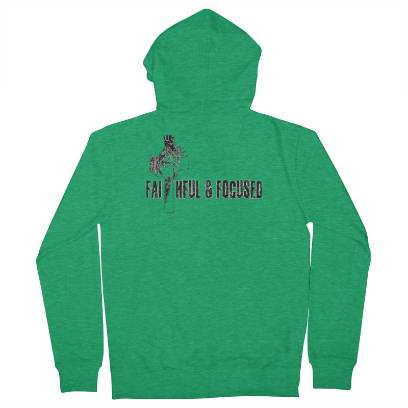 FAITHFUL AND FOCUSED CROSS W/ FACE Women's Zip-Up Hoody by Faithful & Focused Store
