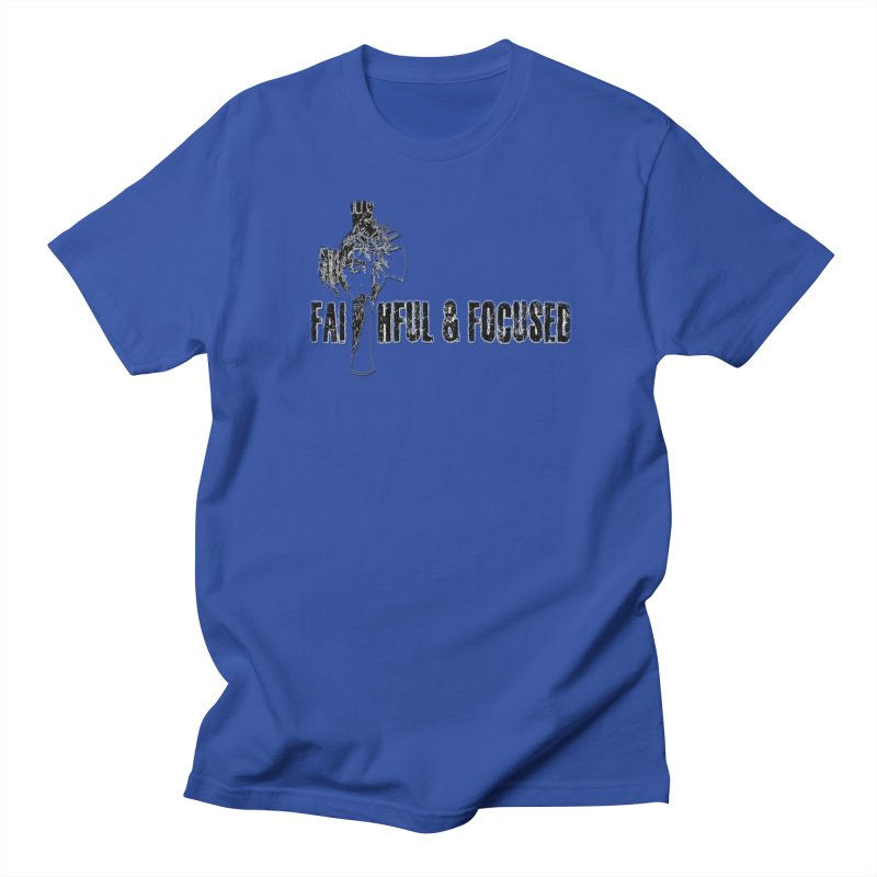 FAITHFUL AND FOCUSED CROSS W/ FACE Men's T-Shirt by Faithful & Focused Store
