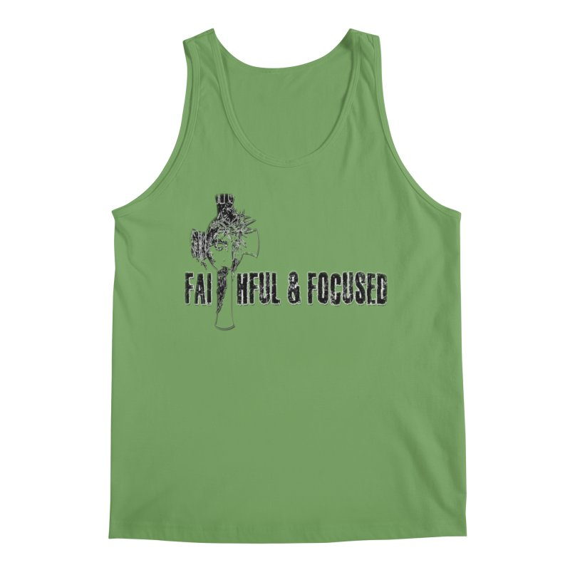 FAITHFUL AND FOCUSED CROSS W/ FACE Men's Tank by Faithful & Focused Store