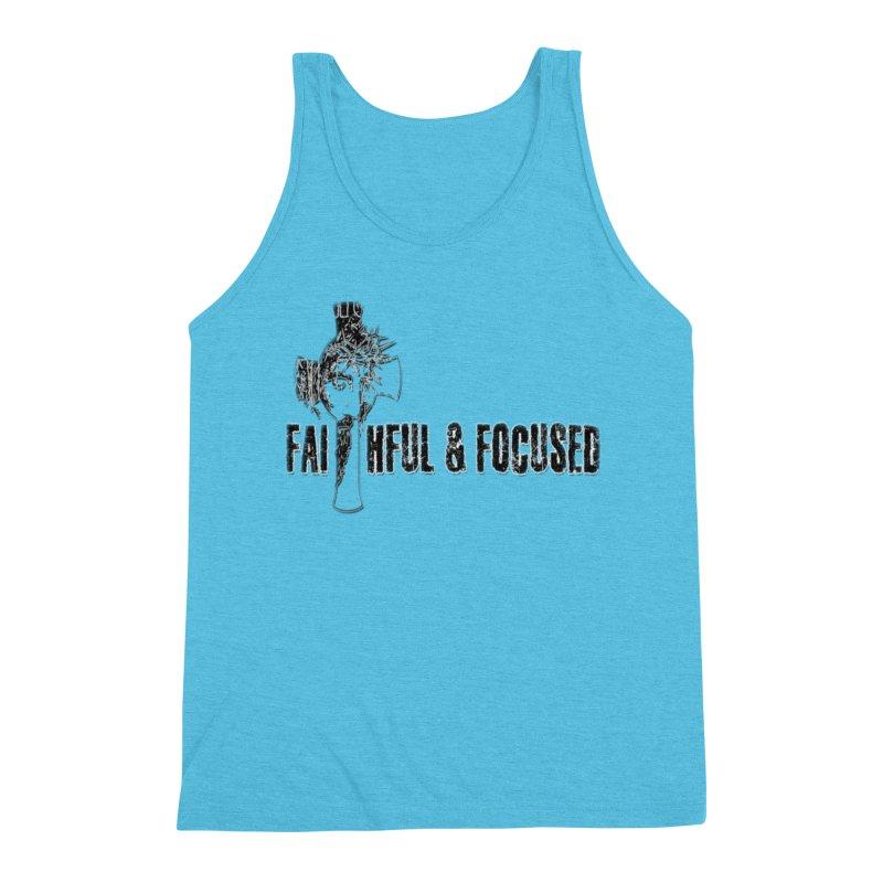 FAITHFUL AND FOCUSED CROSS W/ FACE Men's Tank by Faithful & Focused Store