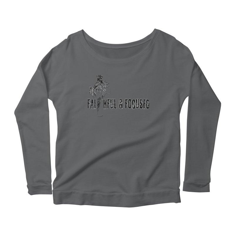 FAITHFUL AND FOCUSED CROSS W/ FACE Women's Longsleeve T-Shirt by Faithful & Focused Store