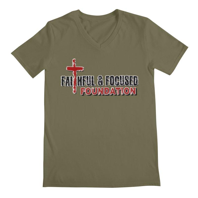 Faithful and Focused Foundation Men's V-Neck by Faithful & Focused Store