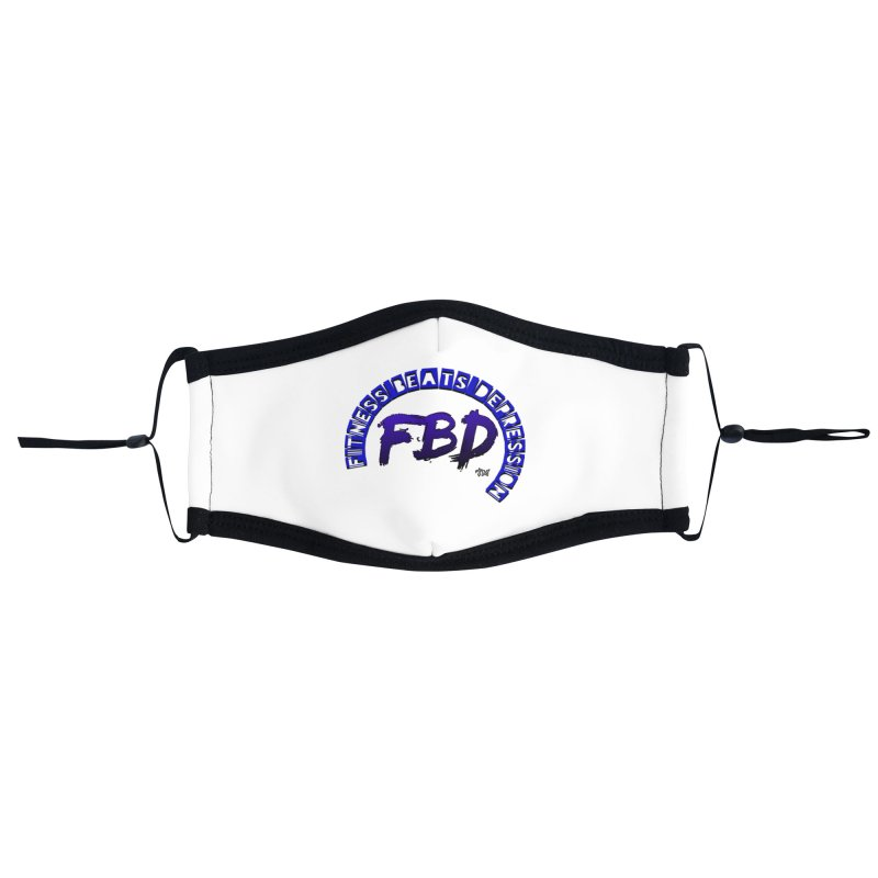 Fitness Beats Depression Accessories Face Mask by Faithful & Focused Store