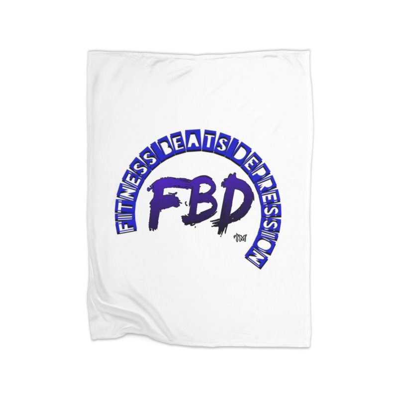 Fitness Beats Depression Home Blanket by Faithful & Focused Store