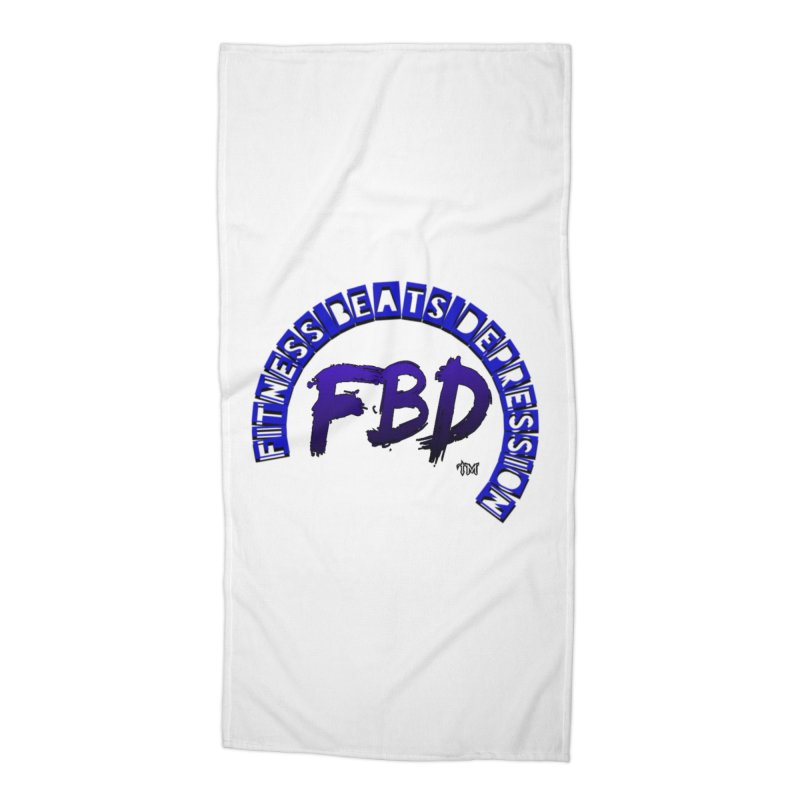 Fitness Beats Depression Accessories Beach Towel by Faithful & Focused Store