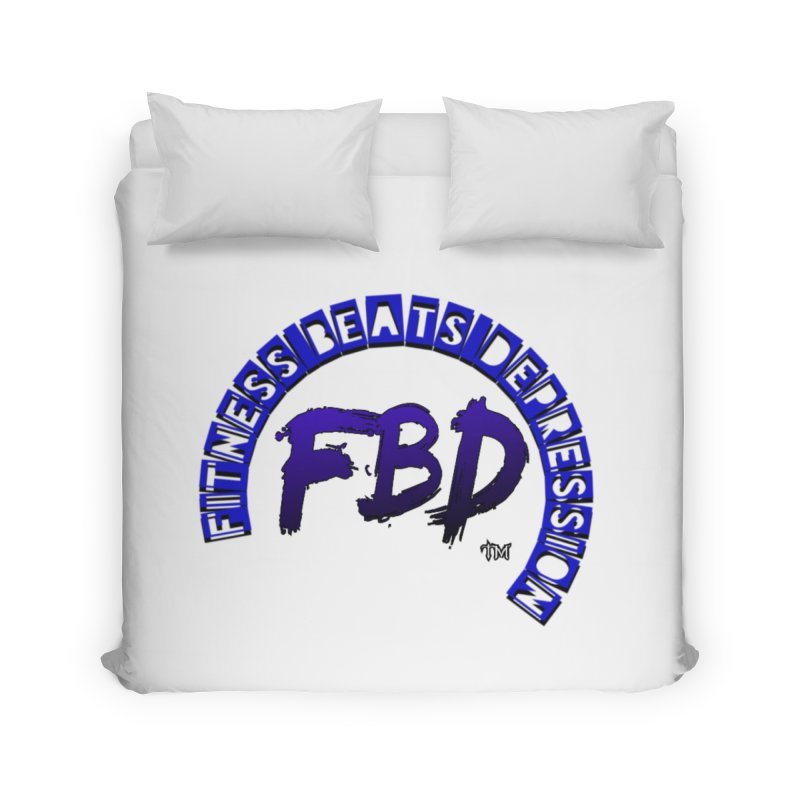 Fitness Beats Depression Home Duvet by Faithful & Focused Store