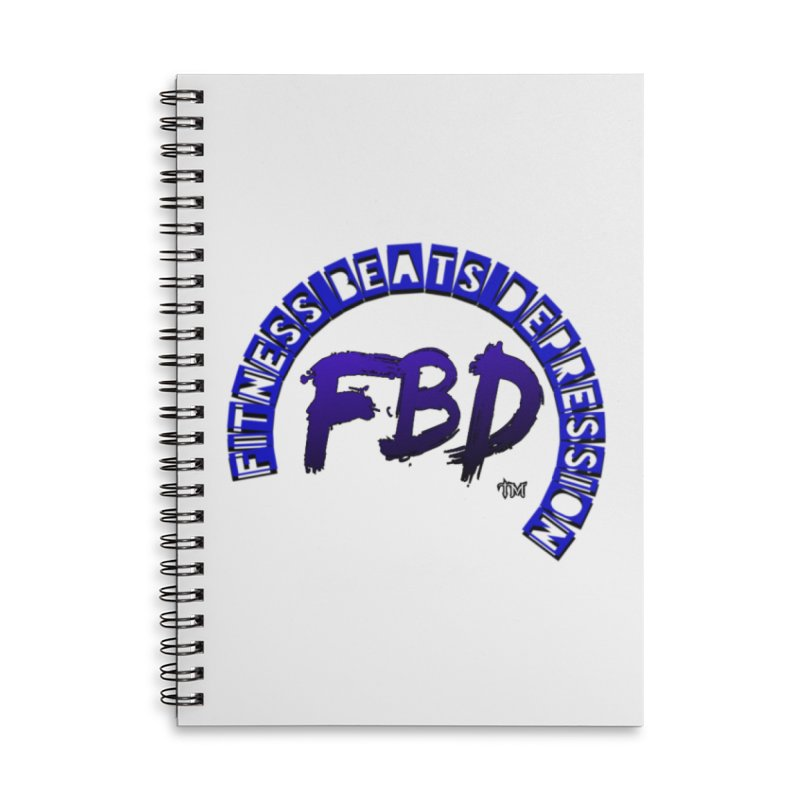 Fitness Beats Depression Accessories Notebook by Faithful & Focused Store