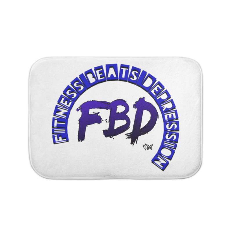 Fitness Beats Depression Home Bath Mat by Faithful & Focused Store