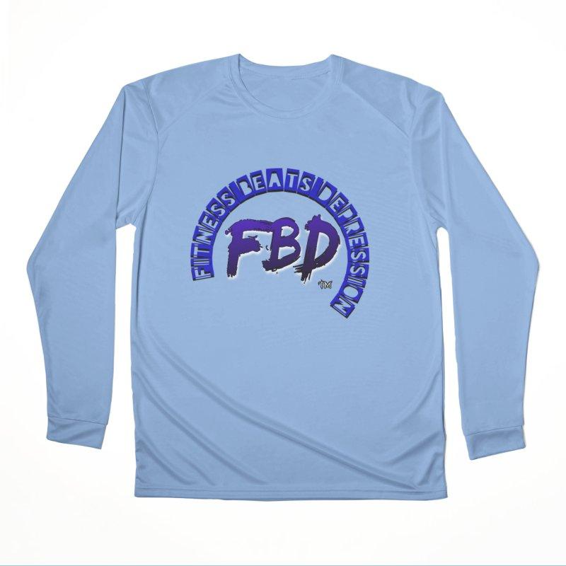 Fitness Beats Depression Men's Longsleeve T-Shirt by Faithful & Focused Store