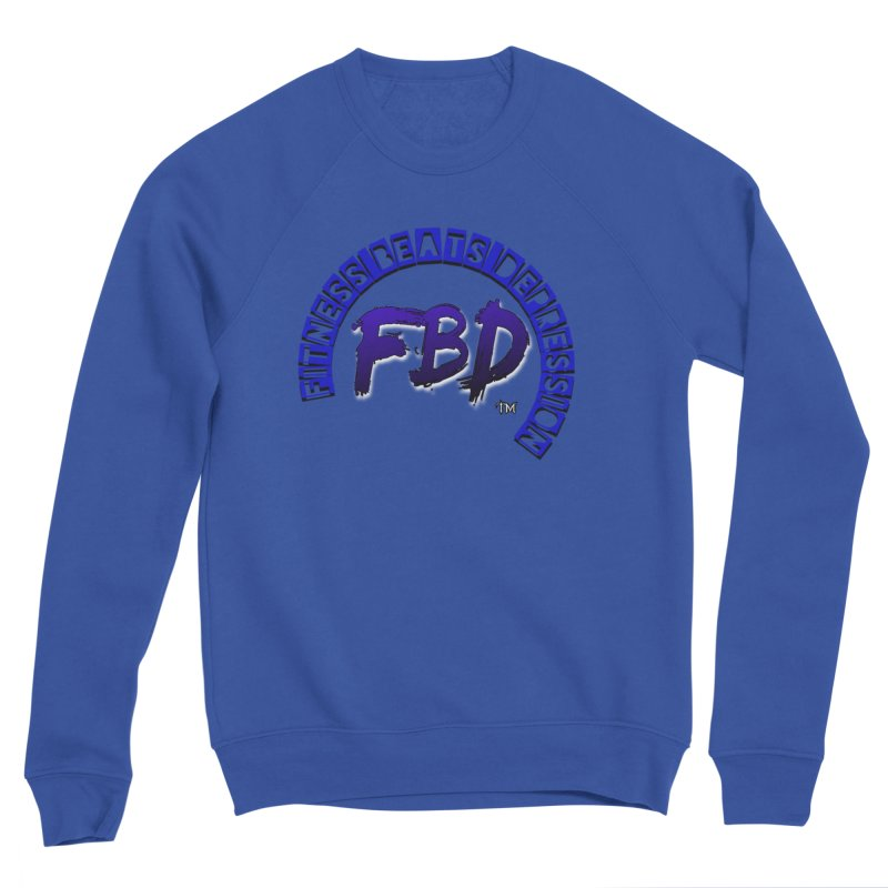 Fitness Beats Depression Men's Sweatshirt by Faithful & Focused Store