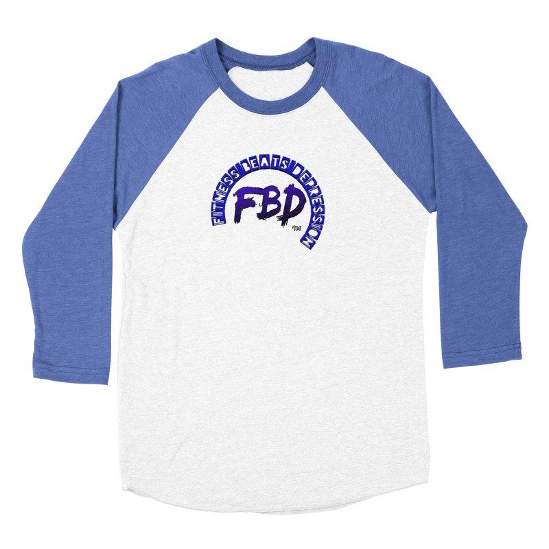 Fitness Beats Depression Women's Longsleeve T-Shirt by Faithful & Focused Store
