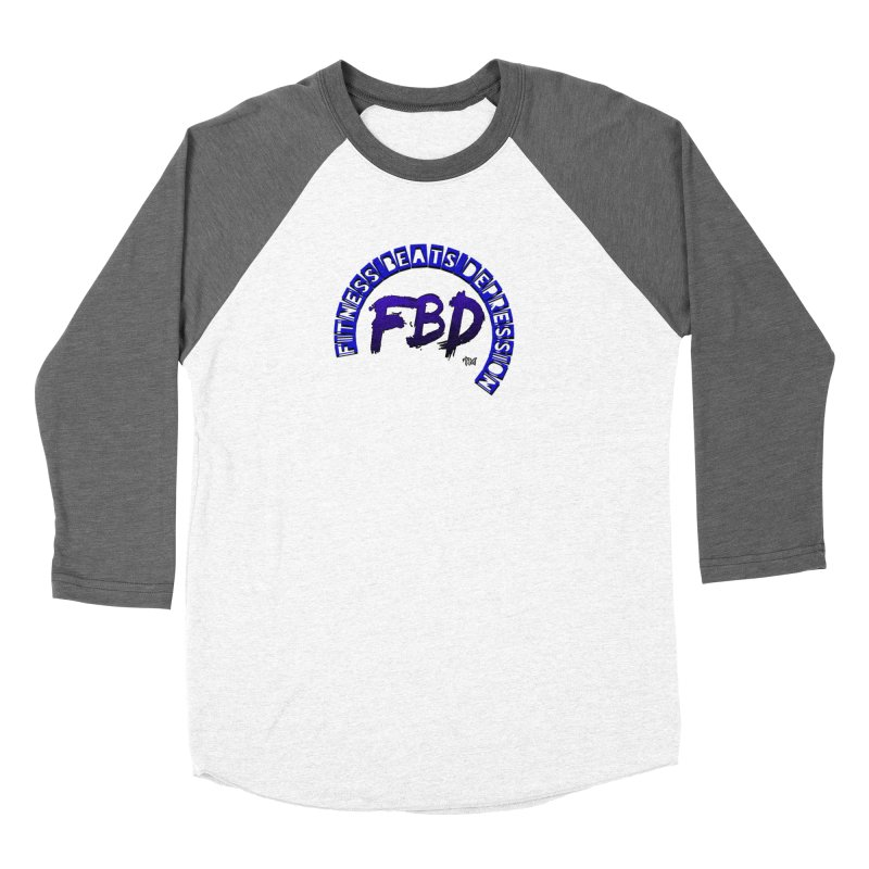 Fitness Beats Depression Women's Longsleeve T-Shirt by Faithful & Focused Store