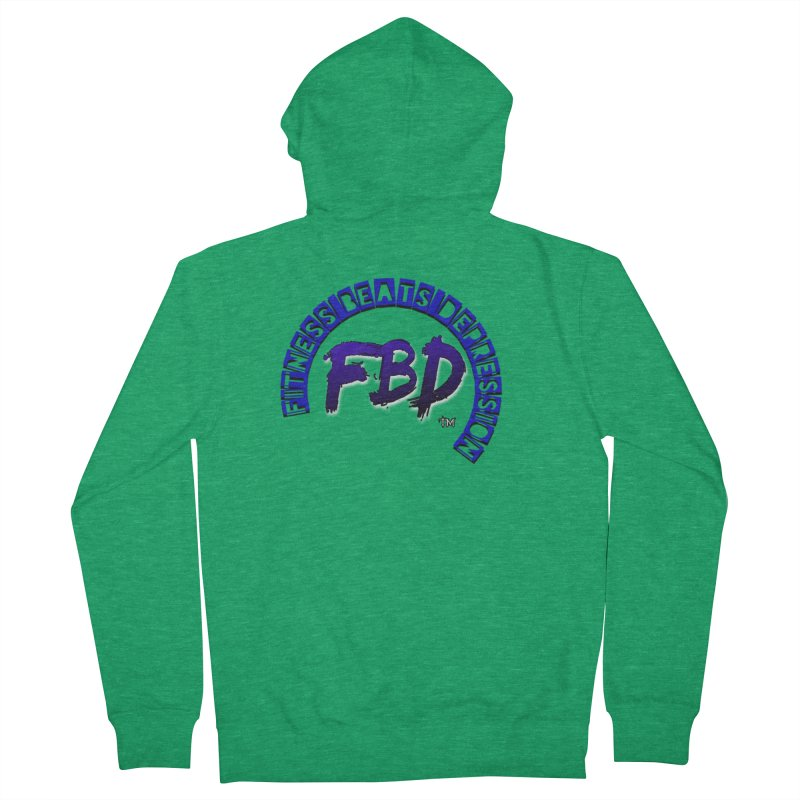 Fitness Beats Depression Men's Zip-Up Hoody by Faithful & Focused Store