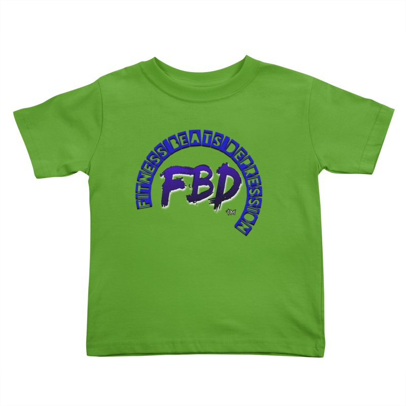 Fitness Beats Depression Kids Toddler T-Shirt by Faithful & Focused Store