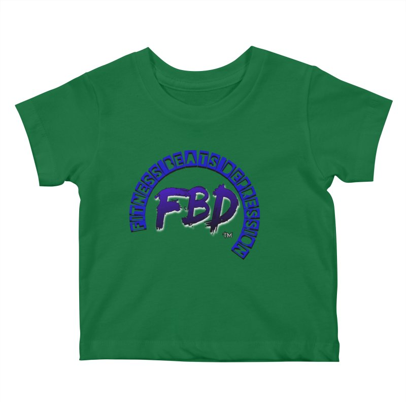 Fitness Beats Depression Kids Baby T-Shirt by Faithful & Focused Store