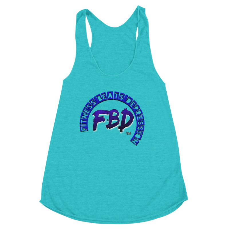 Fitness Beats Depression Women's Tank by Faithful & Focused Store