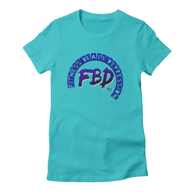 Fitness Beats Depression Women's T-Shirt by Faithful & Focused Store