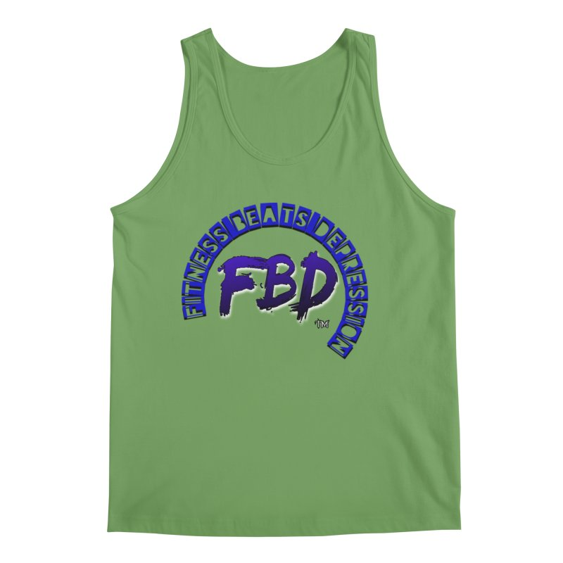 Fitness Beats Depression Men's Tank by Faithful & Focused Store