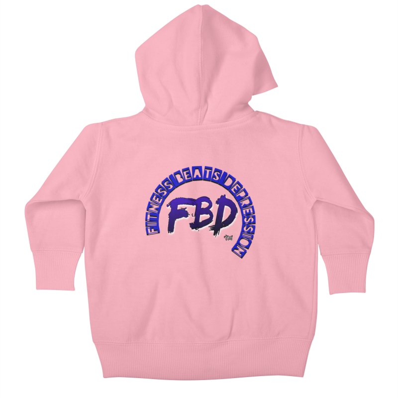 Fitness Beats Depression Kids Baby Zip-Up Hoody by Faithful & Focused Store