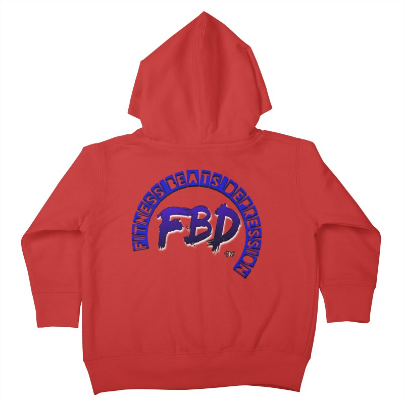 Fitness Beats Depression Kids Toddler Zip-Up Hoody by Faithful & Focused Store