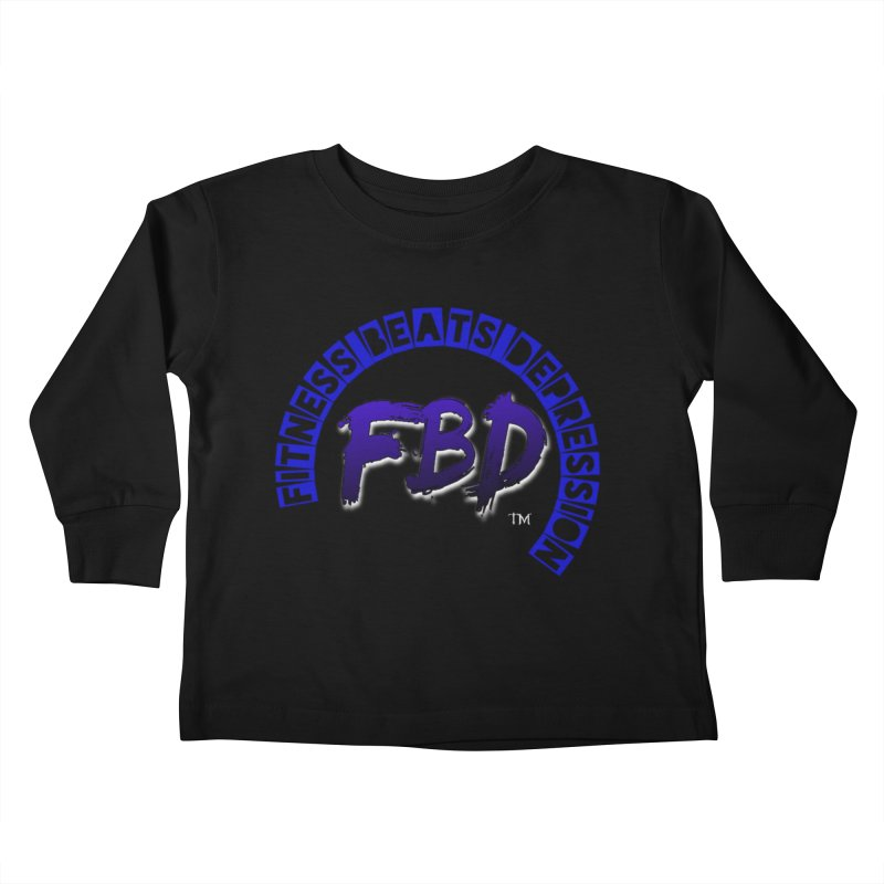Fitness Beats Depression Kids Toddler Longsleeve T-Shirt by Faithful & Focused Store