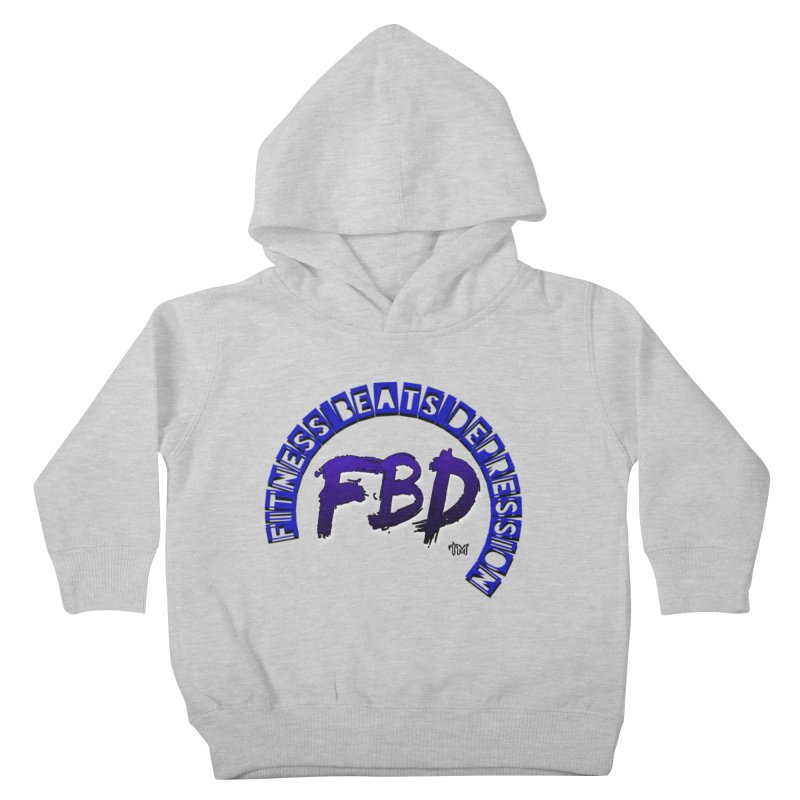 Fitness Beats Depression Kids Toddler Pullover Hoody by Faithful & Focused Store