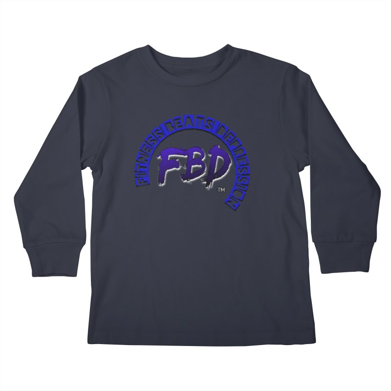 Fitness Beats Depression Kids Longsleeve T-Shirt by Faithful & Focused Store